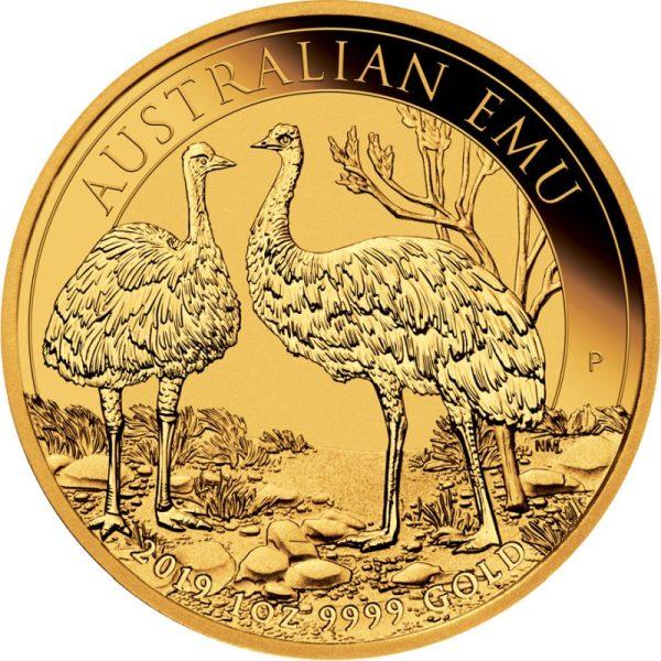 1 Unze Goldmünze Gold Emu 2019