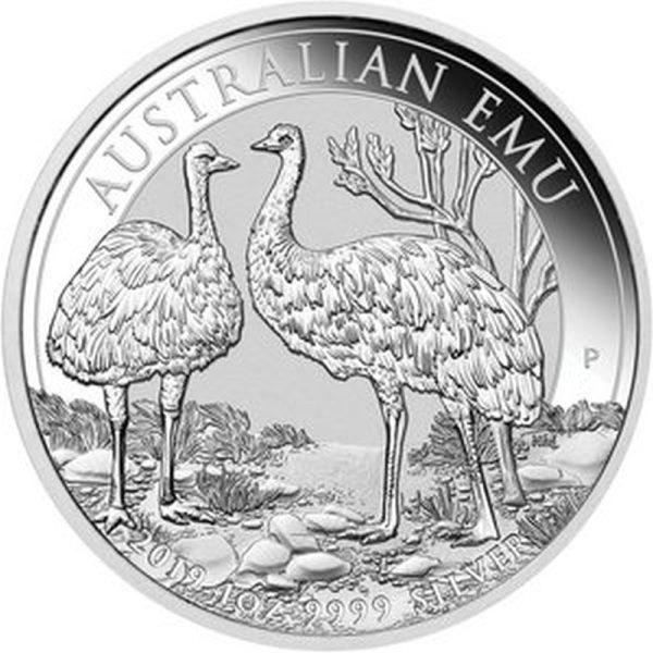1 Unze Silbermünze Emu 2019