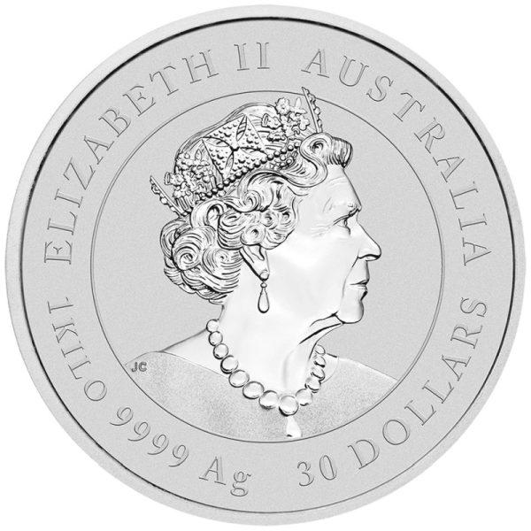 1 Kg Silbermünze Lunar III Maus 2020