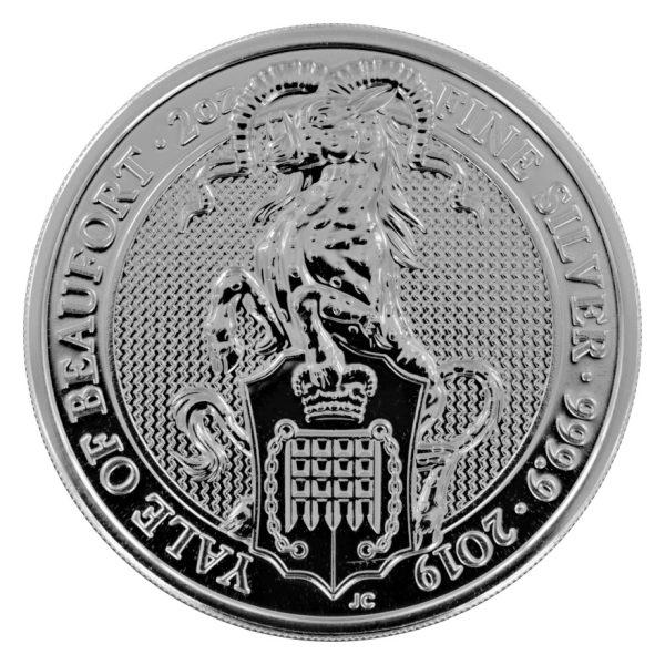 2 Unzen Silbermünze Queens Beasts Yale of Beaufort 2019