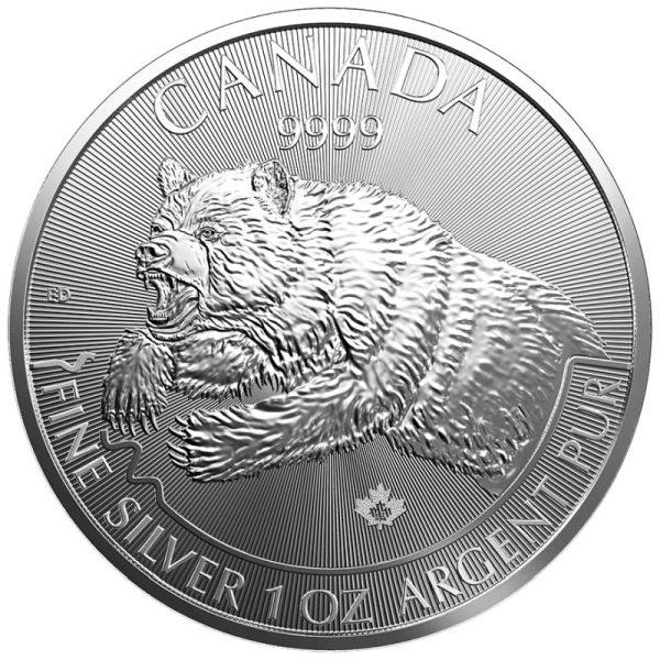 1 Unze Silber Predator Serie Grizzly 2019