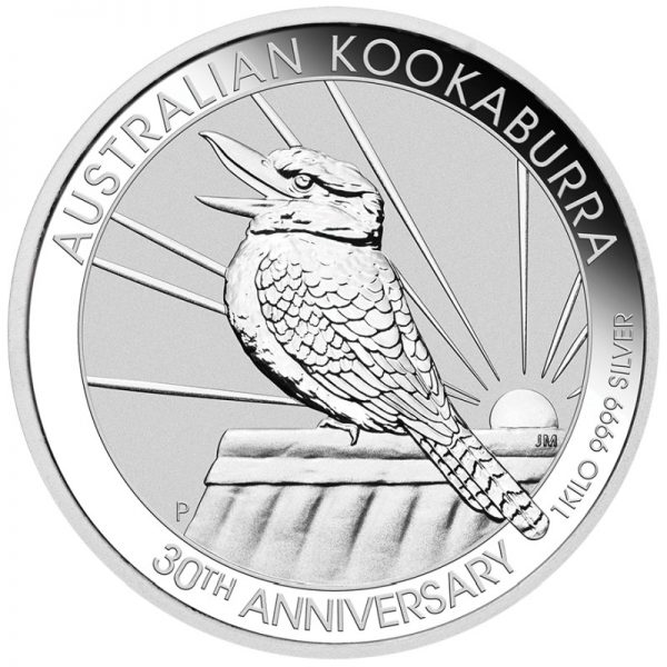 1 Kg Silbermünze Kookaburra 2020