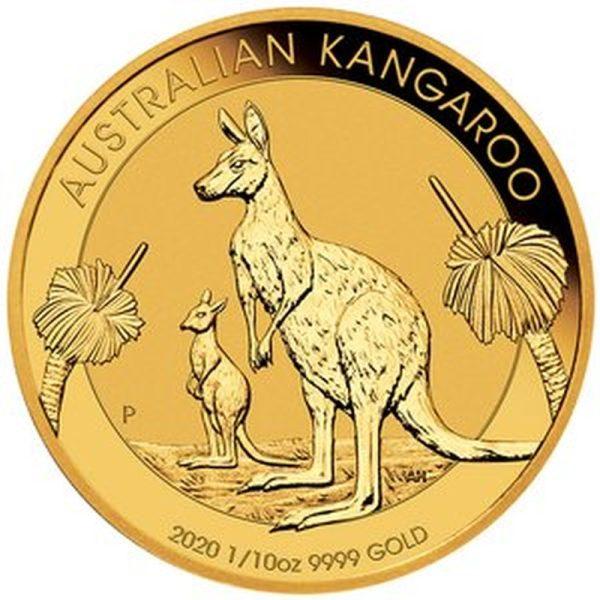1/10 Unze Goldmünze Känguru Nugget 2020