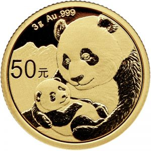 3 Gramm Goldmünze China Panda 2019