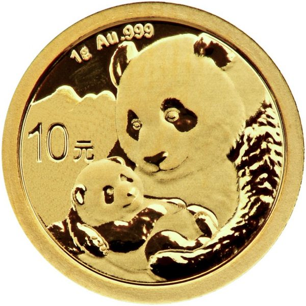 1 Gramm Goldmünze China Panda 2019