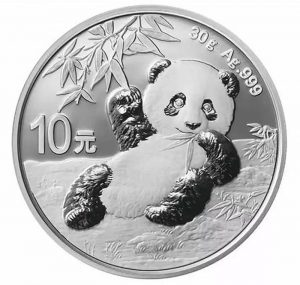 30 gr Silbermünze China Panda 2020