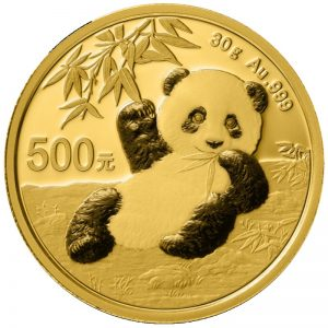 30 Gramm Goldmünze China Panda 2020