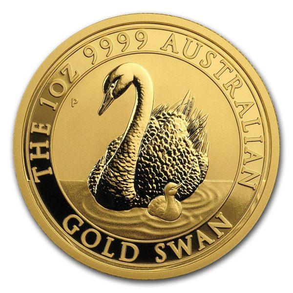 1 Unze Goldmünze Gold Schwan 2018