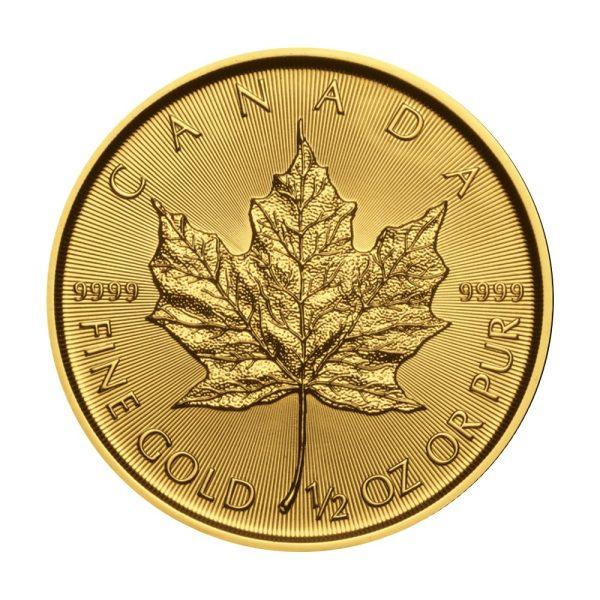 1/2 Unze Goldmünze Maple Leaf 2020