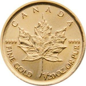 1/20 Unze Goldmünze Maple Leaf 2020