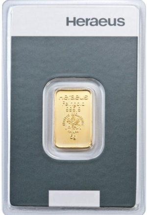 5 gr Goldbarren Kinebar Heraeus