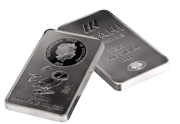 1 kg Silber Eule Münzbarren