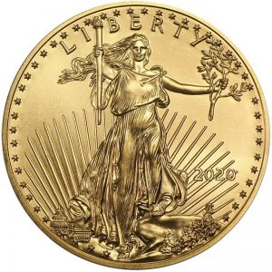 1 Unze Goldmünze American Eagle 2020