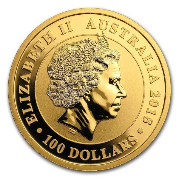 1 Unze Goldmünze Gold Schwan 2020