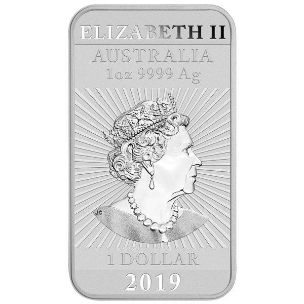 1 Unze Silber Münzbarren Drache Rechteck 2019