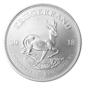 1 Unze Silbermünze Krügerrand 2018