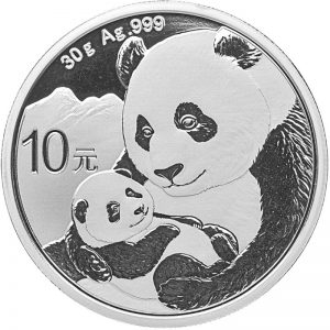 30 gr Silbermünze China Panda 2019